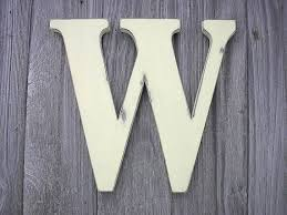Shabby Chic Wedding Guest Book by Rustic Shabby Chic Wedding Guest Book Decor Wooden Letter W 12