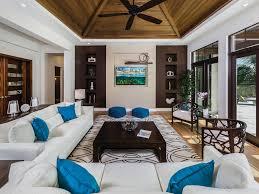 comfortable blue cushions family room modern gray sofa grey asian