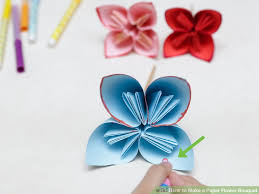 Make Flower With Paper - how to make a paper flower bouquet with pictures wikihow