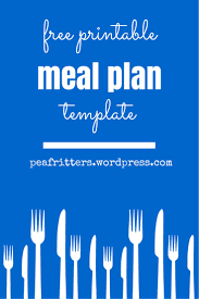 printable meal planner template best 20 meal plan templates ideas on pinterest meal planning free printable meal plan template