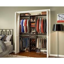 closetmaid impressions 4 ft to 9 ft w chocolate narrow closet