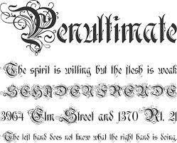 rothenburg decorative font phrases a ornate decorative font