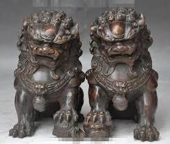 foo dog lion aliexpress buy china bronze fengshui foo dog lion beast