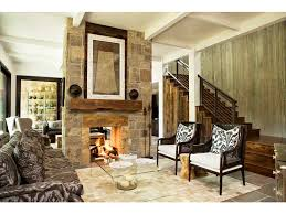 wood floor no hearth fireplace floating stairs hole in the wall