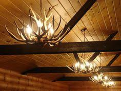 Log Cabin Lighting Fixtures The Cabin Lit Chandelier Antler Shed Pendant Rope Light