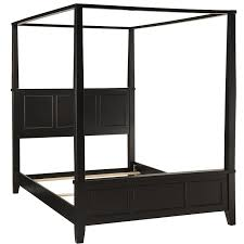 amazon com home styles bedford canopy bed queen black kitchen