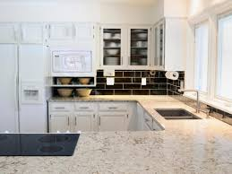 Ceramic Tile Kitchen Countertops by Kitchen Countertop Decor Ideas Ceramic Tile Wall Including Brown
