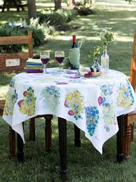 wine country tablecloth shop by size linens u0026 kitchen