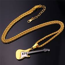 stainless steel guitar necklace images Electric guitar necklace onyx bunny jpg