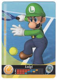 luigi tennis mario sports superstars cards amiibo 08