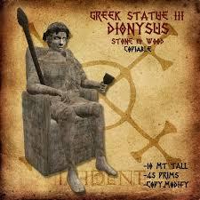 dionysus greek god statue second life marketplace greek statue iii dionysus