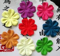 aliexpress com buy scrapbook 5cm mixed color paper flower for