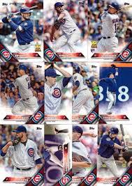 2016 topps chicago cubs baseball card team set