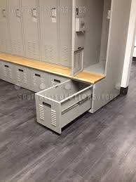 lockers with built in drawer u0026 bench seat personal self storage