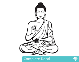 buddha your decal shop nz designer wall art decals wall buddha