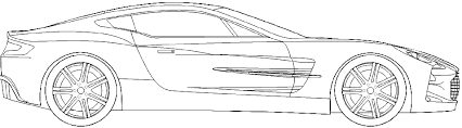2010 aston martin one 77 coupe blueprints free outlines