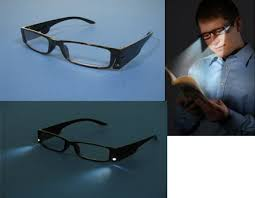 glasses with lights on the side magnifying reading glasses with built in led light x 3 5 amazon co