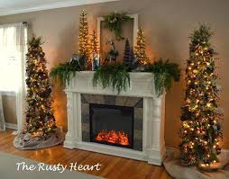 tree costco the two trees next to the fireplace