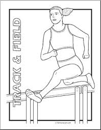 clip art track field coloring abcteach abcteach