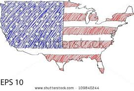 us map outline eps america flag map vector sketch usa stock vector 109840244