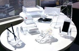 clear acrylic desk accessories set inside design 15