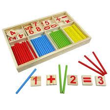 Conhecido Crianças de madeira Educacional Números Matemática Calculat jogo  #NC75