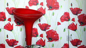 Poppy Wallpaper Home Interior Lesternsumitracom - Poppy wallpaper home interior