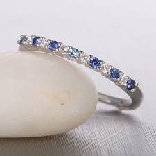 sapphire wedding ring affordable and sapphire wedding band on 10k white gold