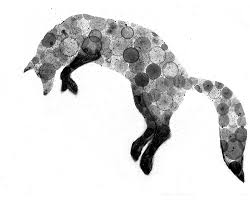 fox 8x10 print of my original ink painting animal painting