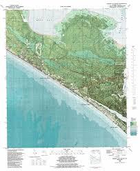 Edgewater Florida Map by Panama City Beach Topographic Map Fl Usgs Topo Quad 30085b7