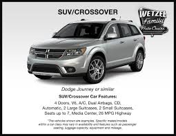 dodge crossover white rental cars near muncie wetzel cdjr