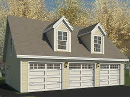 22x22 2 Car 2 Door Detached Garage Plans by Garage Plans With Loft U2013 The Garage Plan Shop