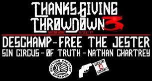 tickets for thanksgiving throwdown 3 free the jester desch