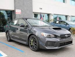 subaru impreza wrx 2018 2018 subaru wrx sti limited w wing dark gray in glendale serving