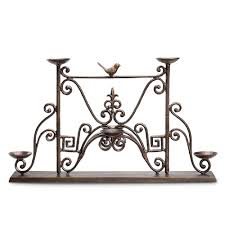 metal fireplace candle holders horchow ambella fireplace