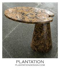 stone patio side table stone side table hedge stone side table stainless by luxury kartell
