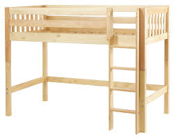 Maxtrix Mid Height Loft Bed W Straight Ladder Twin Size - Height of bunk beds