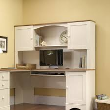 White Office Desk With Hutch Furniture White Painted Hardwood Corner Pc Desk With Hutch