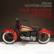 antique imitation iron metal indian four motorcycle model