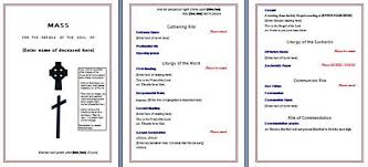 free funeral program template microsoft word templates