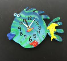 kids clock nursery wall clock clay octopus by pondscumceramics