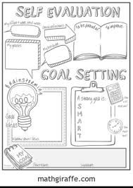 student goal setting sheet middle leader