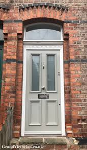 grand victorian front door with canterbury glass in chorlton