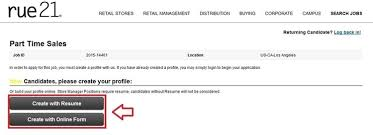 Job Application With Resume by How To Apply For Rue 21 Jobs Online At Careers Rue21 Com