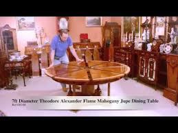 Jupe Dining Table Stunning 7ft Diameter Theodore Mahogany Jupe