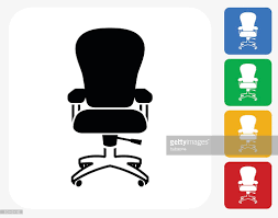 Office Chair Clipart Office Chair Icon Flat Graphic Design Vector Art Getty Images
