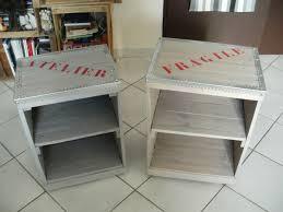 meuble fait en palette table de chevet caisse de vin en bois caisse en bois vin u2013