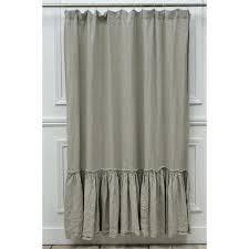 Light Grey Shower Curtain Gray Ruffle Curtain Panel Grey Ombre Ruffle Shower Curtain
