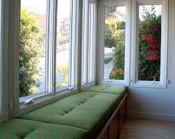 Windowseat Inspiration Princely Open Views Sunroom Ideas With Green Fabric Cover Window