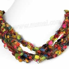 ribbon necklace images Handmade ribbon necklace at numei yarn jpg